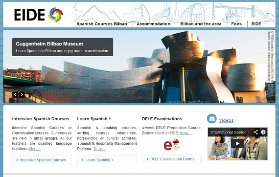 New Web for Spanish Courses in Spain - Spanish courses in Bilbao